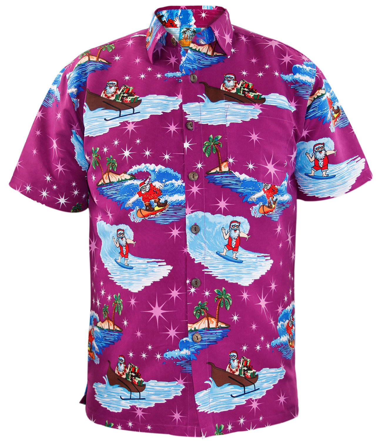 New Mens Fancy Dress Novelty Hawaiian Party Top Stag and Hen Do ...