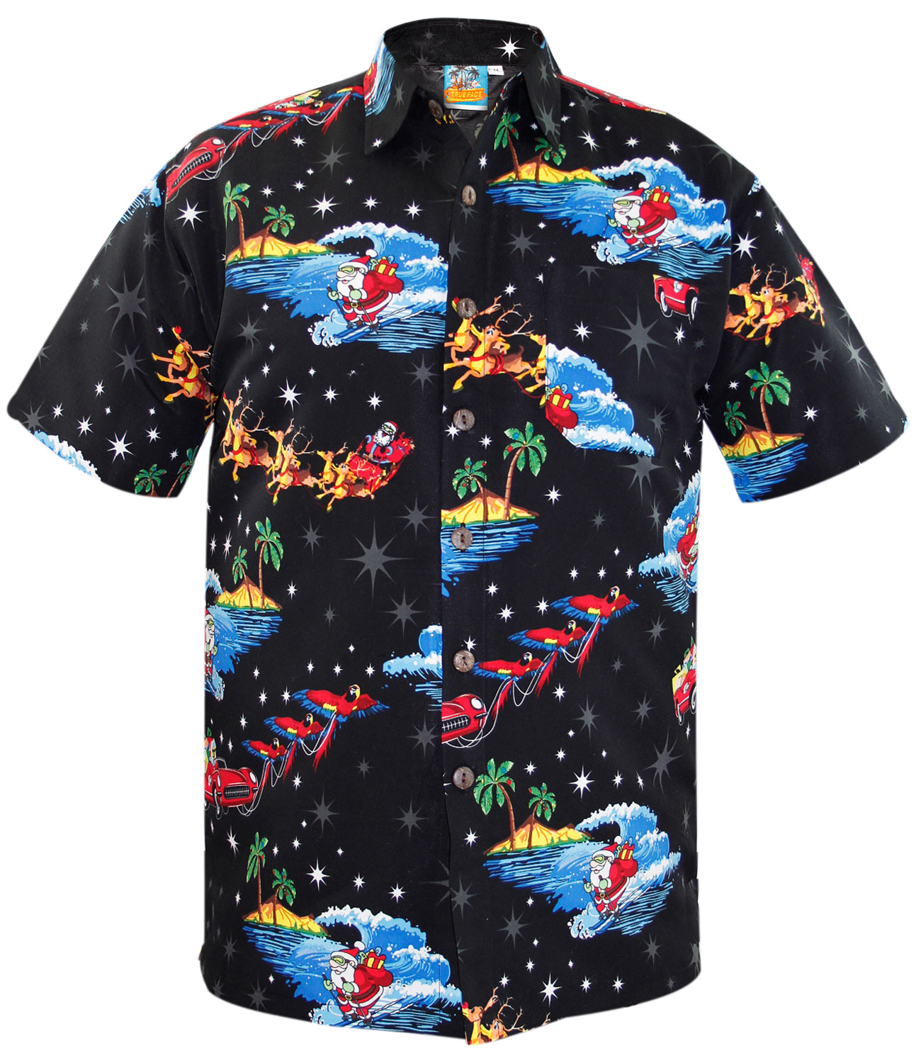 New Mens Fancy Dress Novelty Hawaiian Party Top Stag and ...