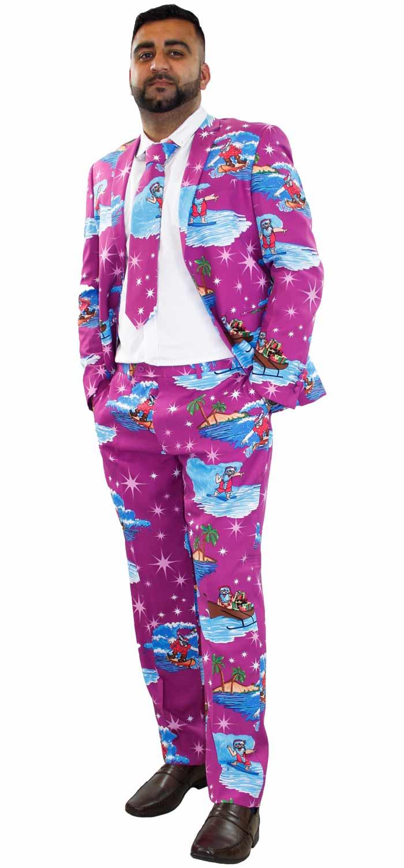 Mens Christmas Fancy Dress Novelty Print Deluxe Festive