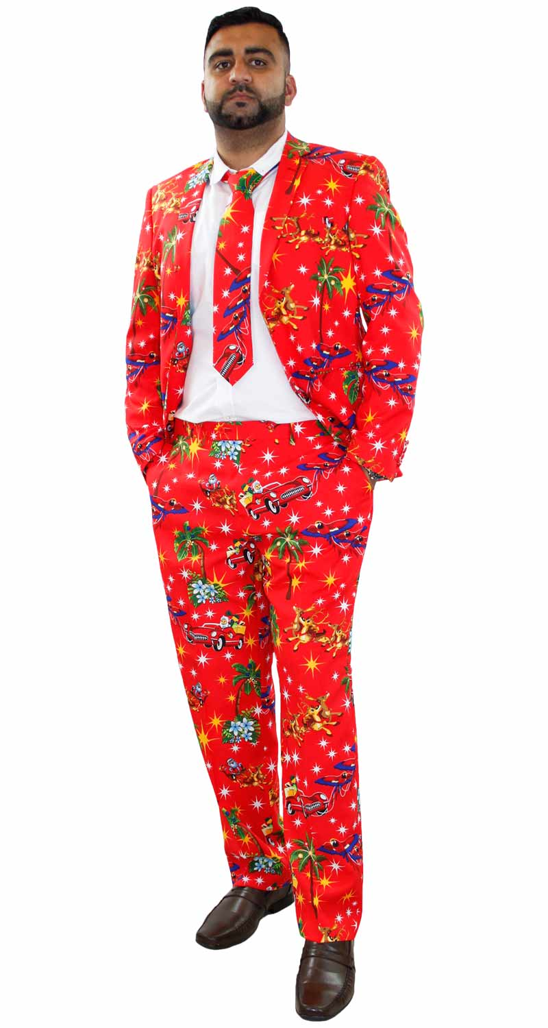 Christmas Fancy Dress Funny.Details About Mens Christmas Fancy Dress Novelty Print Deluxe Festive Costumes Casual Lot Suit